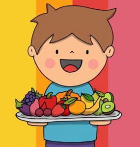 enfant manger des fruits et légumes en hiver